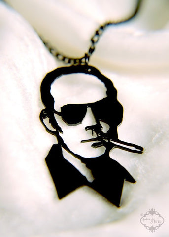 Hunter S. Thompson Tribute Portrait Necklace