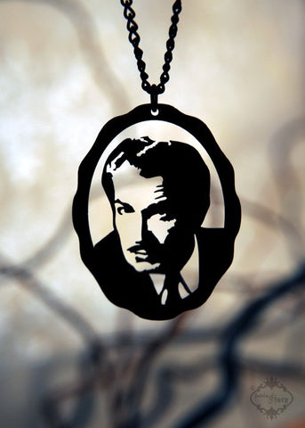 Vincent Price homage Necklace in black stainless steel
