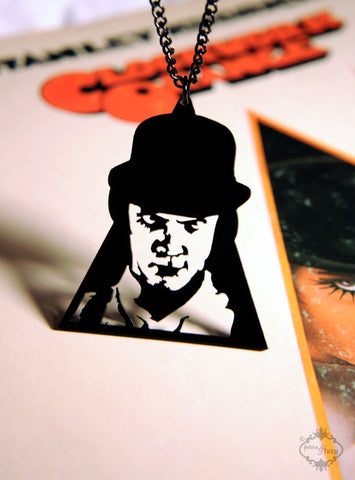 Clockwork Orange Alex DeLarge inspired Necklace in black stainless steel