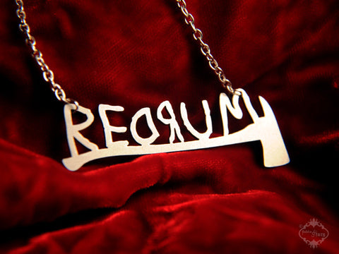 REDRUM The Shining inspired Necklace in stainless steel