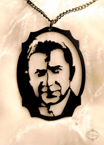 Vampire Bela Lugosi homage Necklace in black