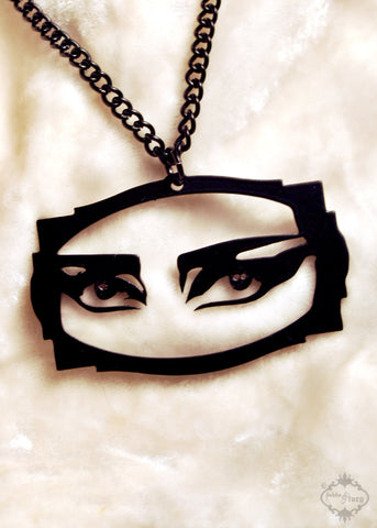Siouxsie Sioux Tribute Egyptian Necklace in black stainless steel