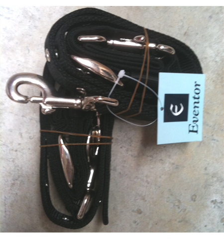 Eventor webbing side reins with Elastic