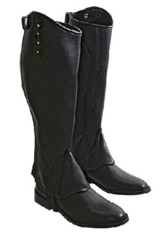 Wild with Flair Patent Piping & Diamante Gaiters