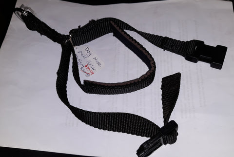 Padded Nose Pull Webbing Dog Collar
