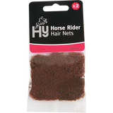 HY Horse Rider Hair Nets 2pack