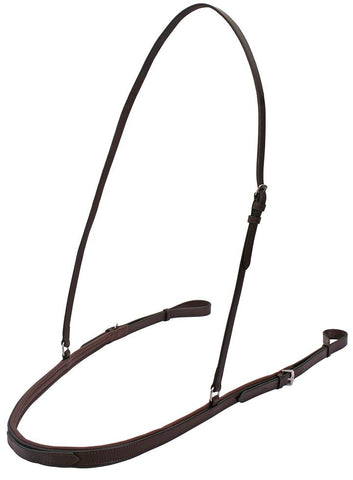 Platinum flat padded straight breastplate Brown Hack size
