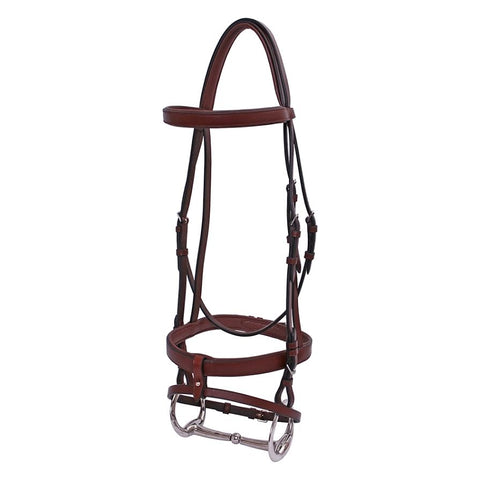 Platinum Flat padded Small Pony Bridle