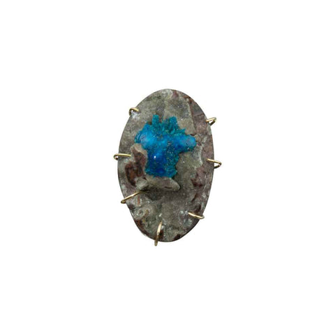 Cavansite Gemstone Pendant Necklace