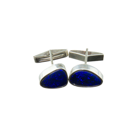 Blue Opal Cuff Links