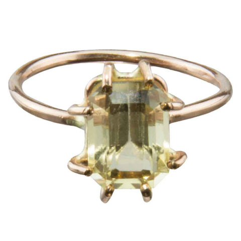 sold citrine 14 karat gold ring