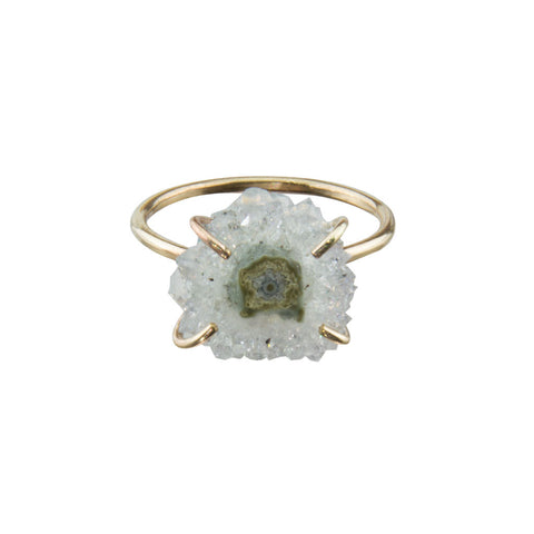 Stalactite Slice 14K Gold Ring