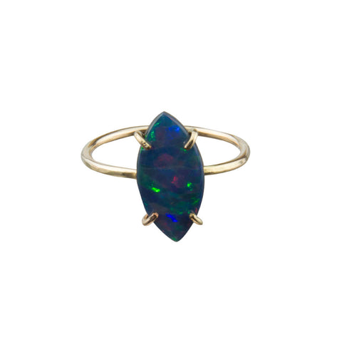 Opal Gemstone 14 Karat Gold Ring