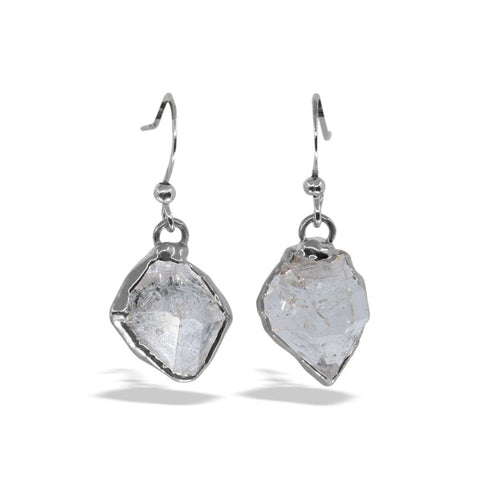 Herkimer Diamond Silver Drop Earrings