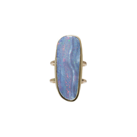 Opal Double Band Ring