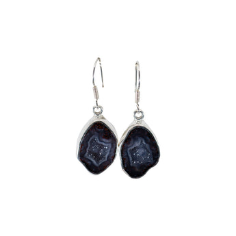 GEODE SOLID 9.25 STERLING SILVER EARRINGS