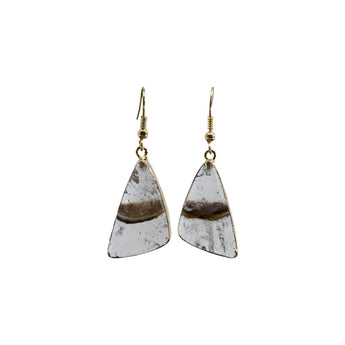 GOLDEN QUARTZ 14K GOLD PLATED EARRINGS
