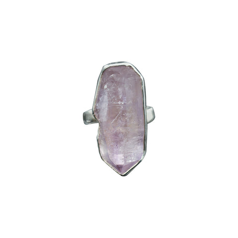 **SOLD** VERA CRUZ LAVENDER QUARTZ GEMSTONE SOLID 9.25 SILVER ADJUSTABLE RING