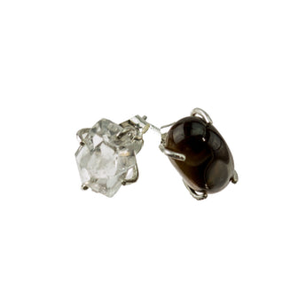 *SOLD* Tigereye and Herkimer Diamond Earrings ***SOLD***