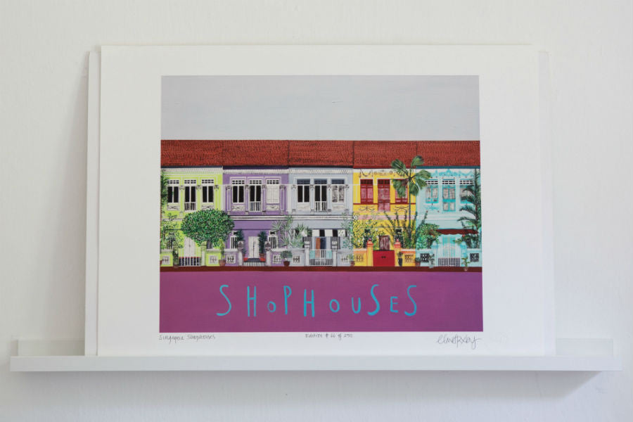 Singapore Shophouses - Author Rosie Milne, Singapore