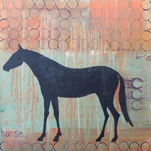 Clare Haxby Horse Painting and Art Print