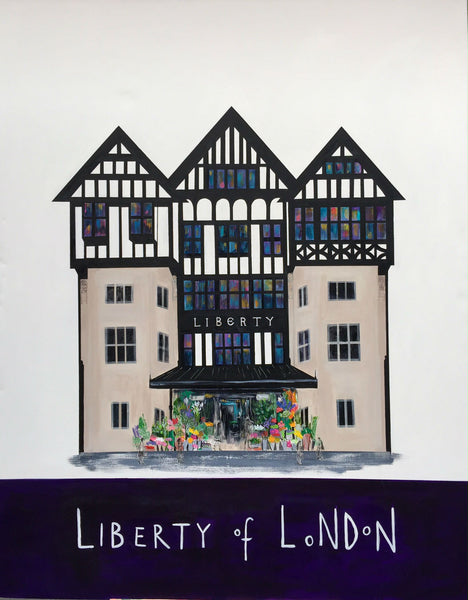 Liberty of London Painting by Clare Haxby