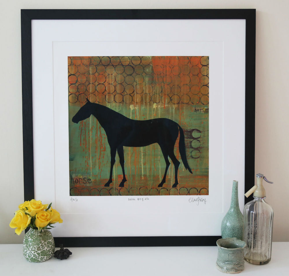 Horse Equestrian Print Clare Haxby