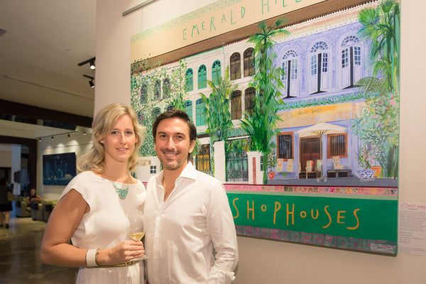 Jasmin Braun and husband at clare haxby exhibition