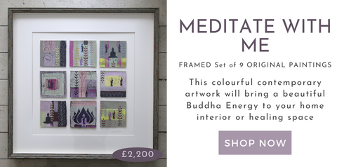 Meditate With Me Framed Set of 9 Original Paintings