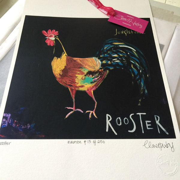 Rooster Limited Edition Art Print Clare Haxby