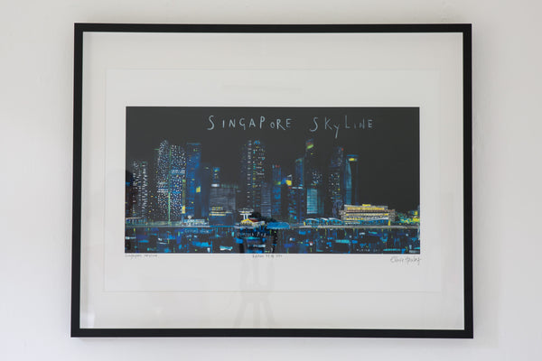 Singapore Skyline by Clare Haxby