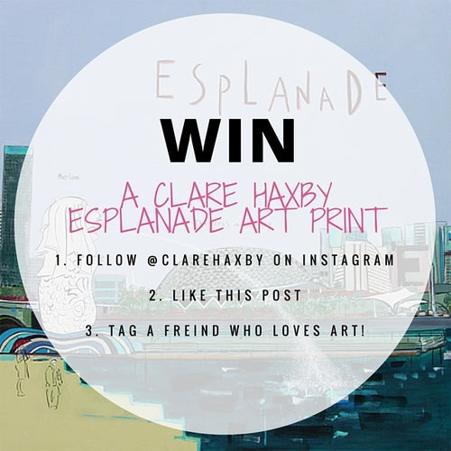 Find this post on the @ClareHaxby Instagram page and follow the 3 simple steps for your chance to WIN a signed limited edition Esplanade print. Winner will be chosen at random. See T&C below.