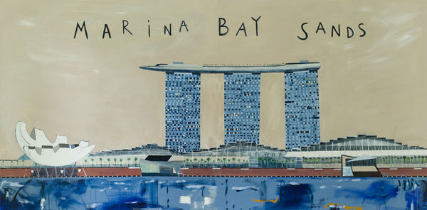 Marina Bay Sands Painting by Clare Haxby