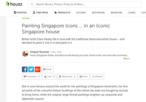 Houzz Interview With Artist Clare Haxby