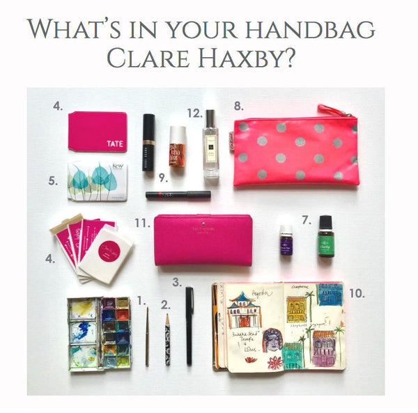 Jennifer Hamley Clare Haxby Whats in your handbag