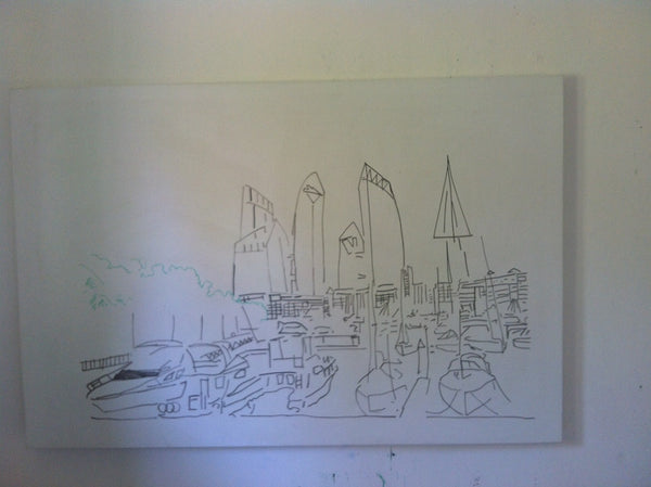 Reflections At Keppel bay Sketch
