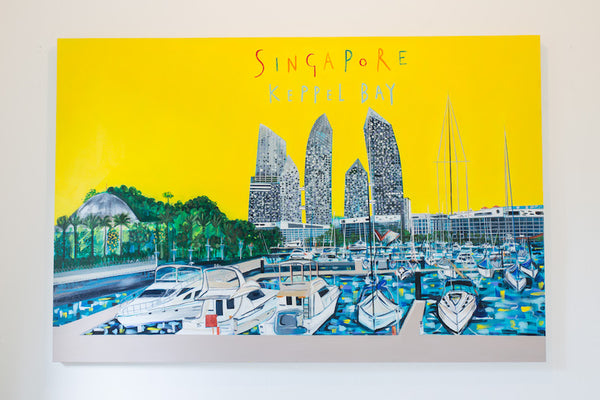 Reflections at Keppel Bay Artwork by Clare Haxby