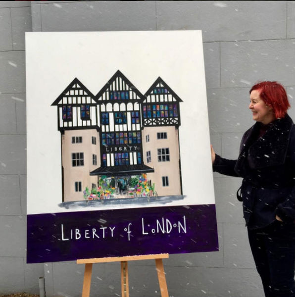 Liberty of London painting Clare haxby
