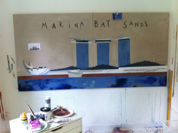 Marina Bay Sands Art Painting Work in Progress