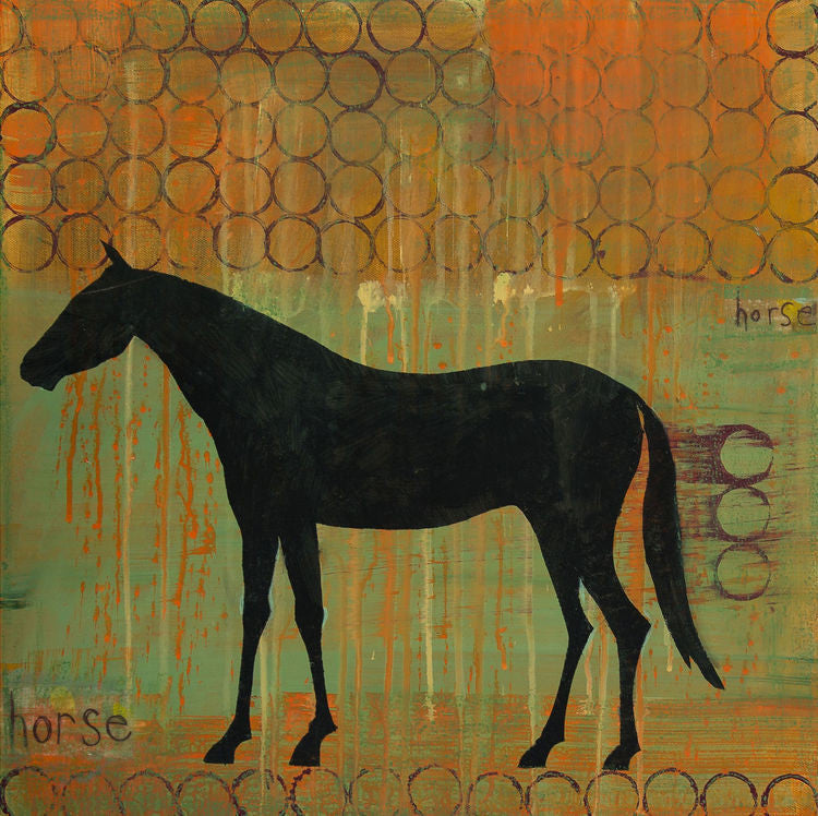 Horse Painting Clare Haxby