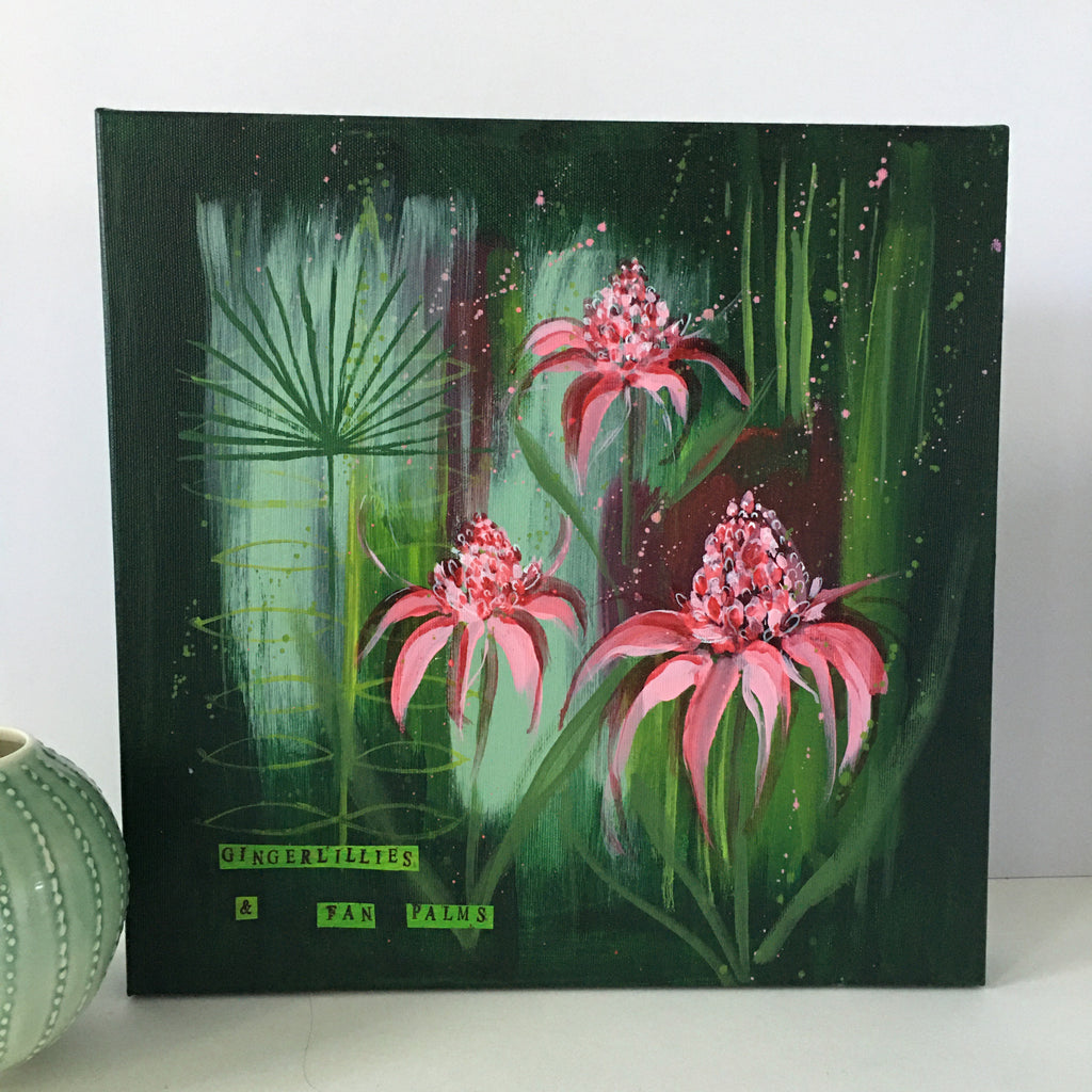 Gingerlilies & Fan Palms