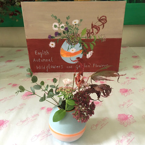 #ClareHaxbyFlowers 70 - English Autumnal Wildflowers and Garden Flowers