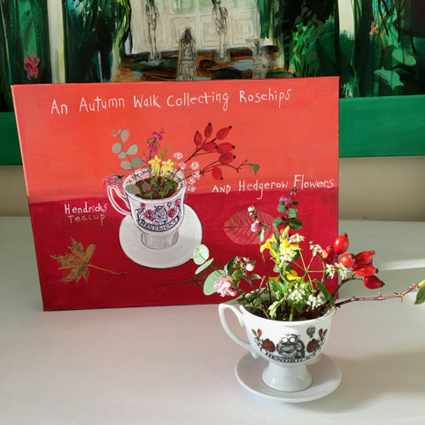 #ClareHaxbyFlowers 71 - An Autumn Walk Collecting Rosehips and Hedgerow Flowers