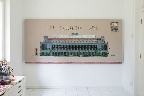 Fullerton Hotel Original Painting By Clare Haxby