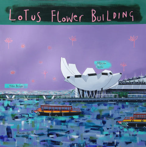 Lotus Flower Building Print by Clare Haxby