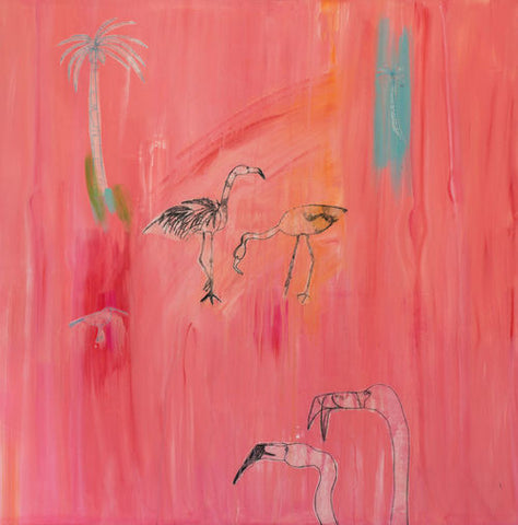 Flamingo Limited Edition Print by Clare Haxby
