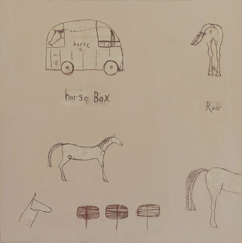Horse Box Limited Edition Print by Clare Haxby