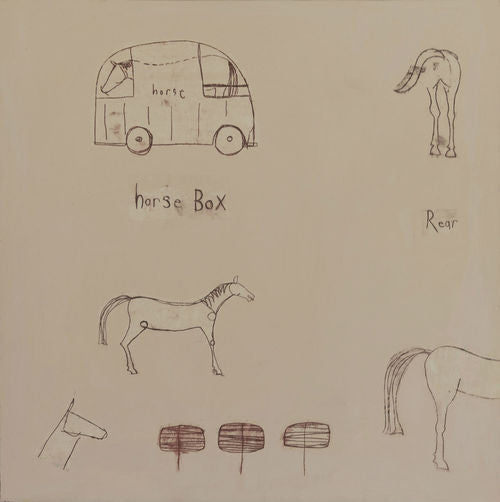 Horse Box Painting by Clare Haxby