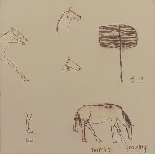Horse Grazing Limited Edition Print Clare Haxby
