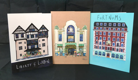 Artistic Architecture of London - Greetings Cards PACK A